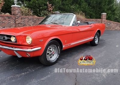 1966 Ford Mustang Convertible in red Stock #1966