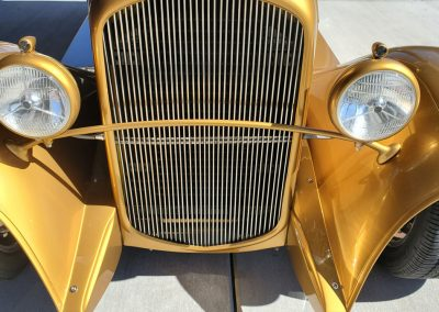 front grill 1931 Plymouth Sedan Hot Rod Gold