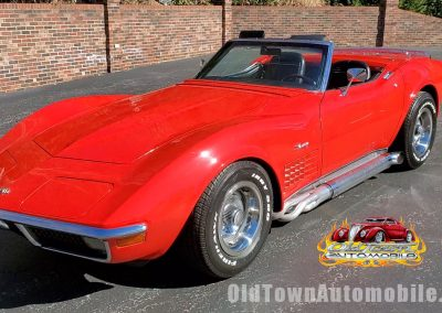 1970 Chevrolet Corvette Convertible in red at Old Town Automobile