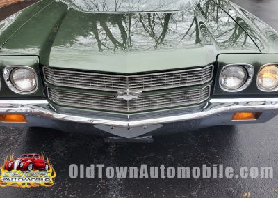 front grill 1970 Chevelle in forest green metallic at Old Town Automobile