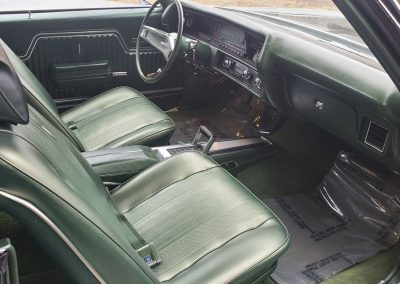 front seats 1970 Chevelle in forest green metallic at Old Town Automobile