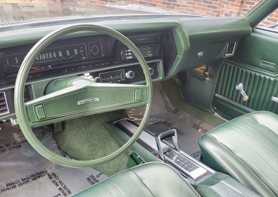 dash 1970 Chevelle in forest green metallic at Old Town Automobile