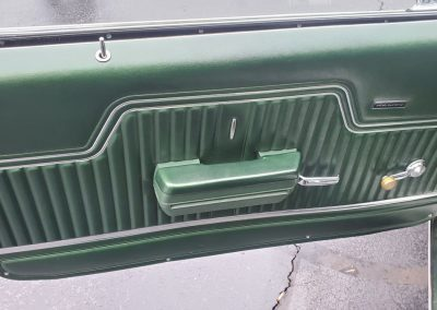 door panel driver 1970 Chevelle in forest green metallic at Old Town Automobile