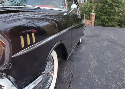 1957 Chevy in black for sale