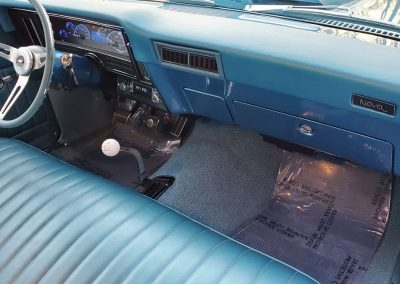 front seat and dashboard