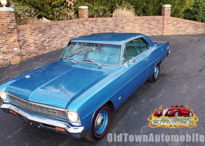 1966 Chevy Nova L79 Tribute in Marina Blue for sale at Old Town Automobile
