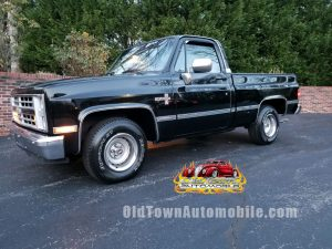 1987 Chevrolet Silverado in black for sale at Old Town Automobile