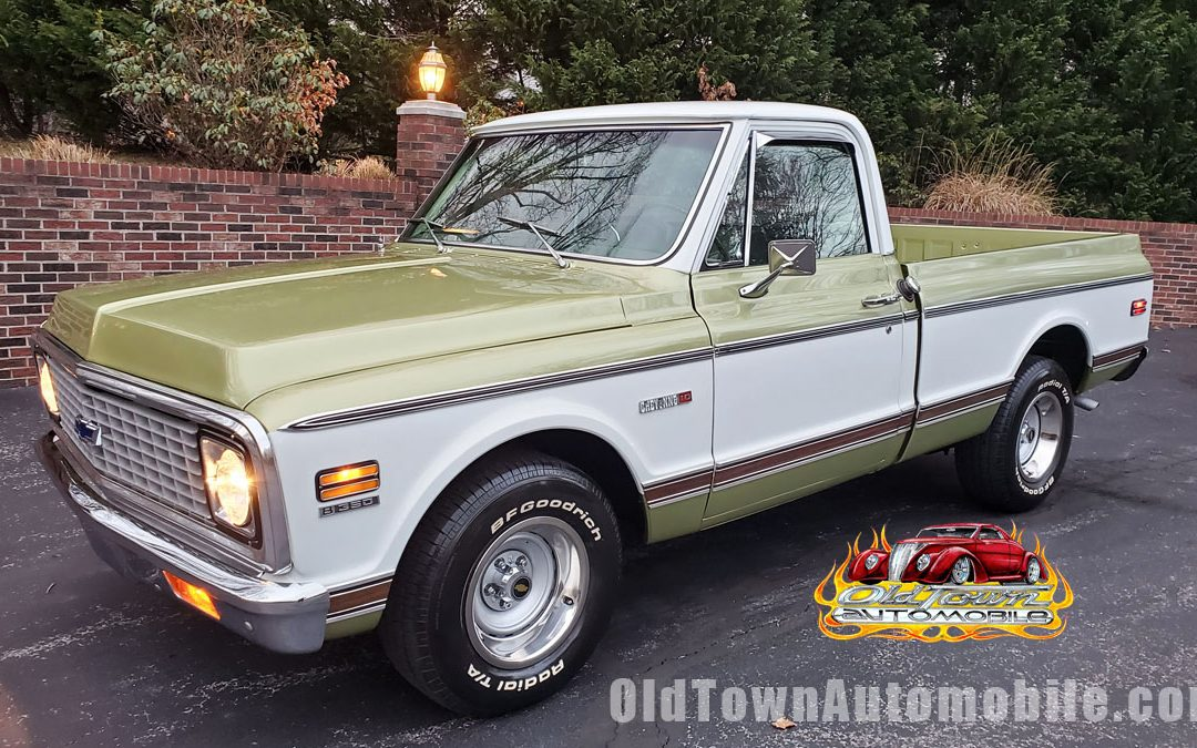 1972 Chevy C10 Cheyenne Short Bed Olive Green Stock 1992 Old Town Automobile