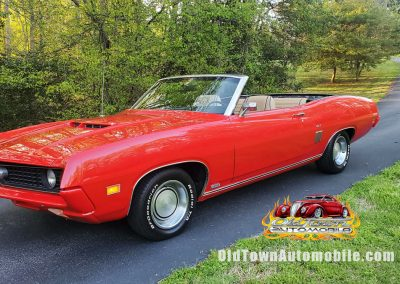 1970 Ford Torino GT Convertible in red for sale