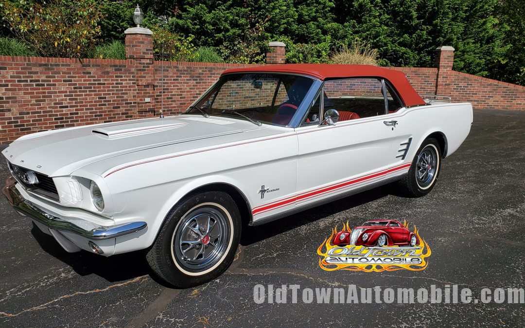 1966 Ford Mustang Convertible in white stock 2003