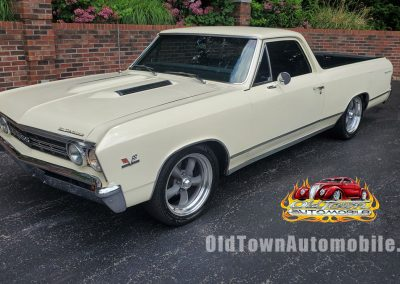 1967 Chevrolet El Camino in butternut yellow for sale at Old Town Automobile
