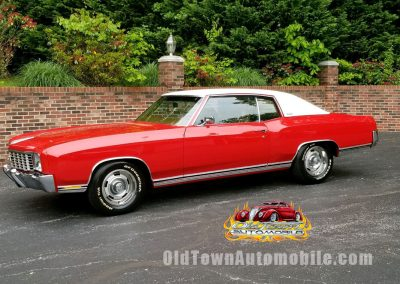 1972 Chevy Monte Carlo Red stock # 2007 for sale