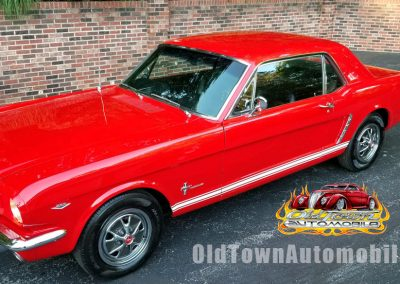 1965 Mustang Coupe in Candy Apple Red for sale