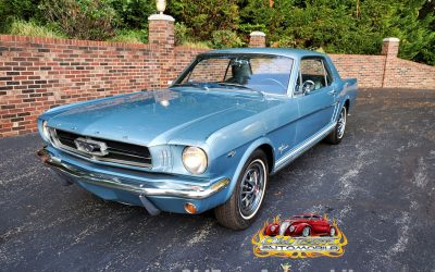 1965 Ford Mustang Coupe in Silver Blue