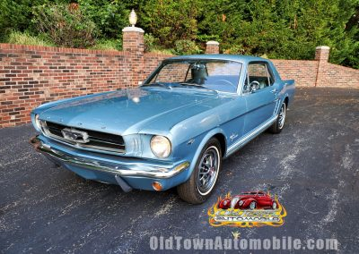 1965 Mustang Cpe Silver Blue Stock 2034