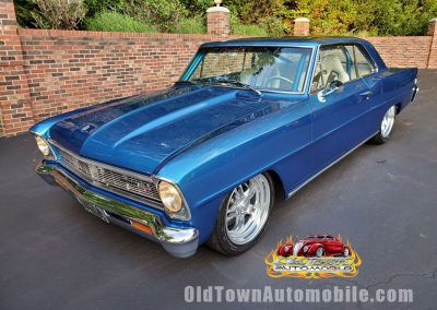1966 Chevrolet Nova Pro-Engineered by Nascar builder in candy blue for sale