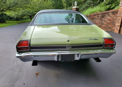 1969 Chevelle SS in frost green